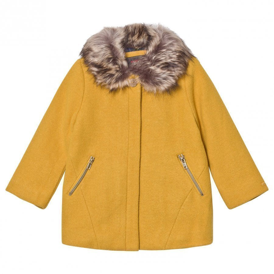 Catimini Yellow Lurex Coat Parkatakki