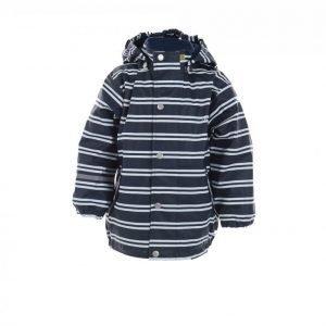 Celavi Rain Jacket Striped Sadetakki Sininen / Valkoinen