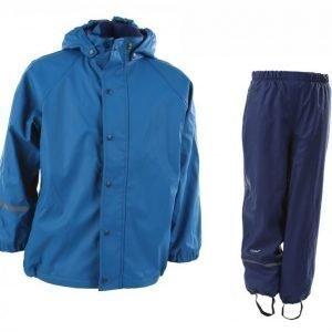 Celavi Rainwear Set W Fleece Sadetakki Sininen