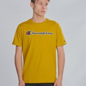 Champion Rochester Crewneck T Shirt T-Paita Keltainen