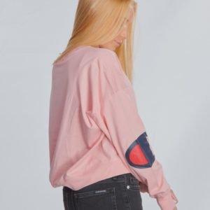 Champion Rochester Crewneck T Shirt T-Paita Vaaleanpunainen