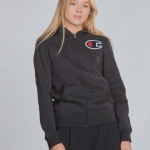 Champion Rochester Hooded Full Zip Sweatshirt Huppari Musta