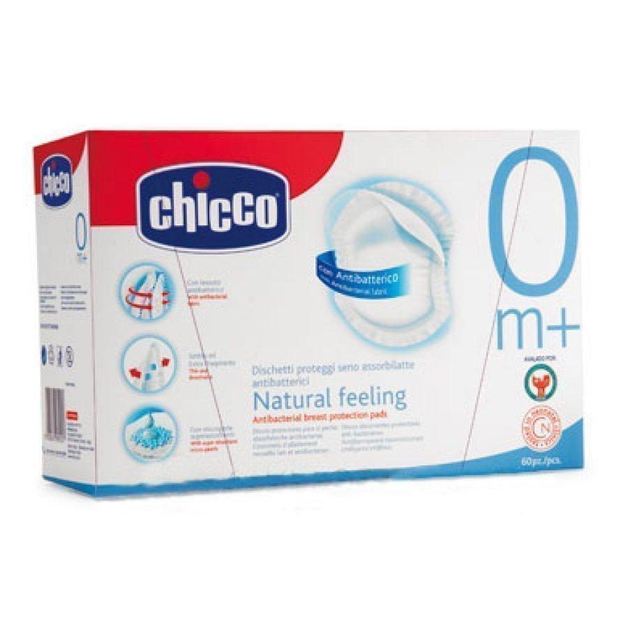 Chicco Antibakteeriset Liivinsuojukset Natural Feeling 60 Kpl