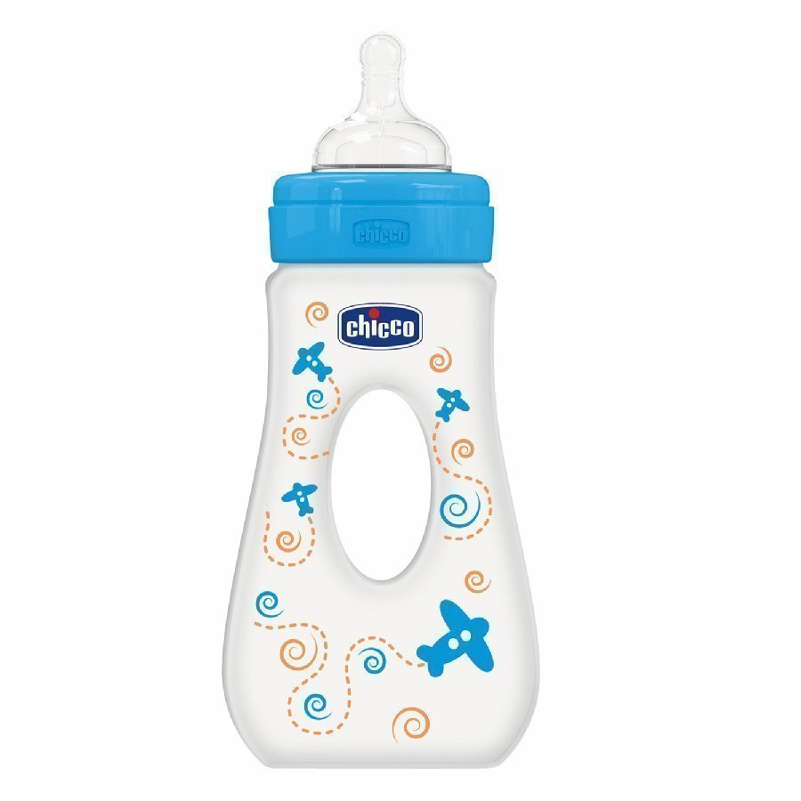 Chicco Easy Grip Tuttipullo 240 Ml 4 Kk+ Vaaleansininen
