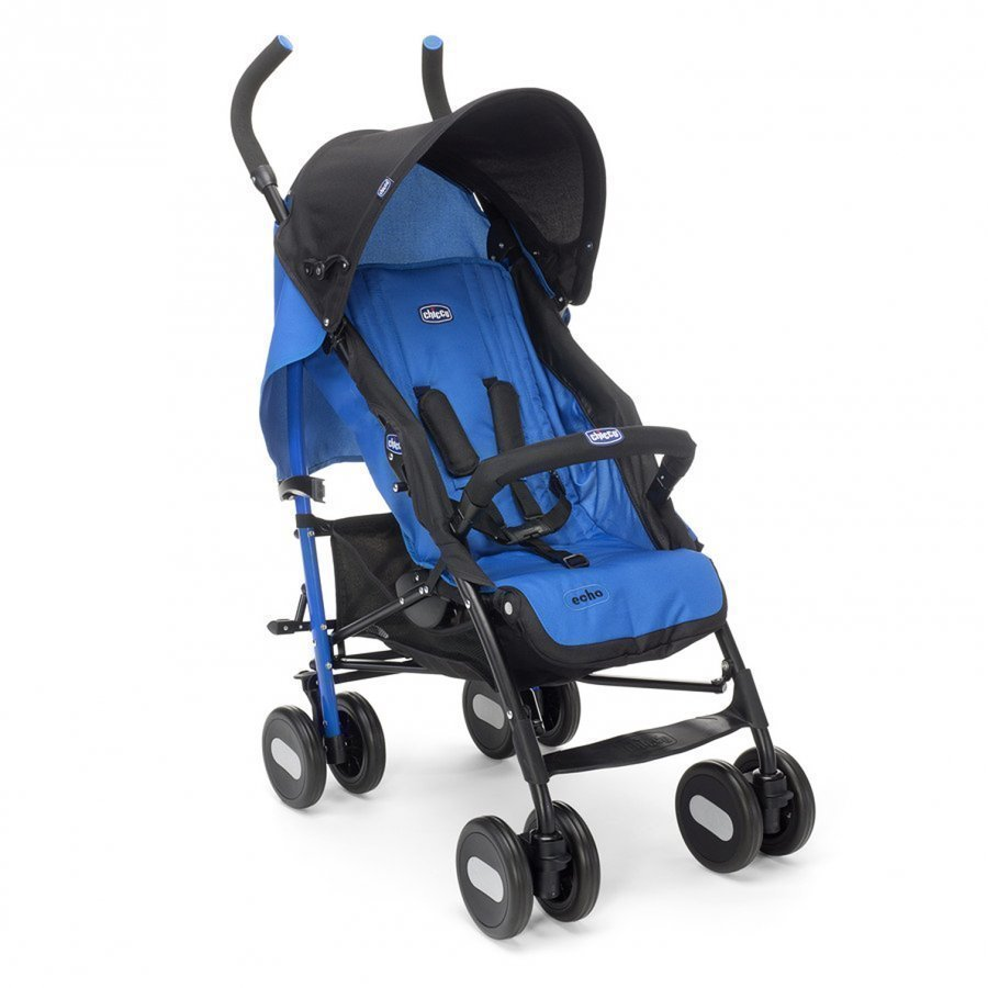 Chicco Echo Stroller With Bumper Bar Deep Blue Sateenvarjorattaat