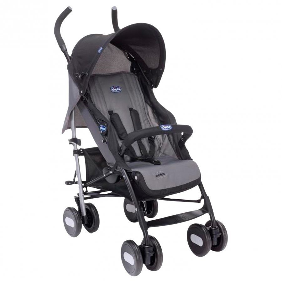 Chicco Echo Stroller With Bumper Bar In Coal Sateenvarjorattaat