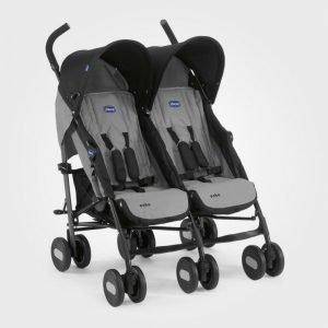 Chicco Echo Twin Stroller Grey Sisarusrattaat