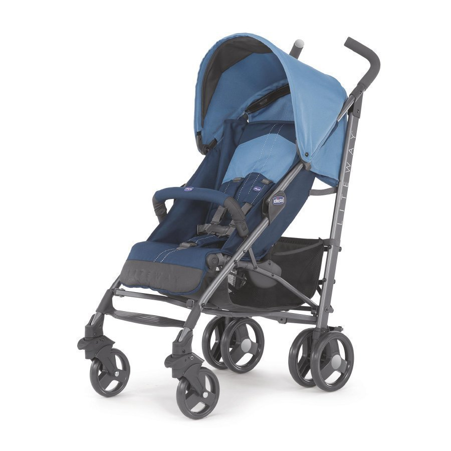 Chicco Lite Way Blue Matkarattaat + Turvakaari