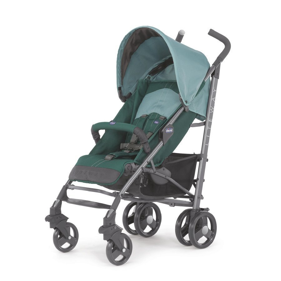 Chicco Lite Way Green Matkarattaat + Turvakaari