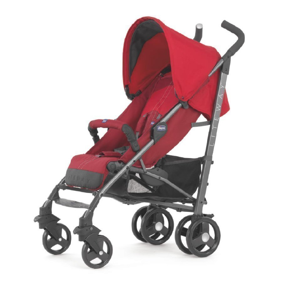 Chicco Lite Way Red Matkarattaat + Turvakaari