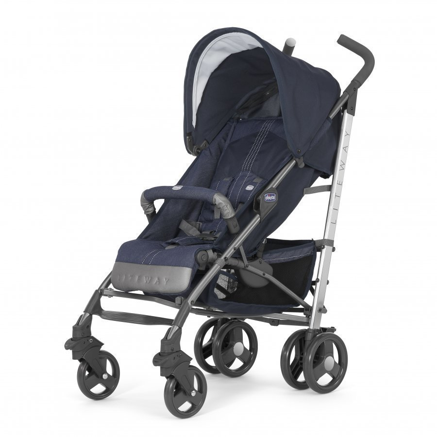 Chicco Liteway 2 Stroller Special Edition Denim Sateenvarjorattaat