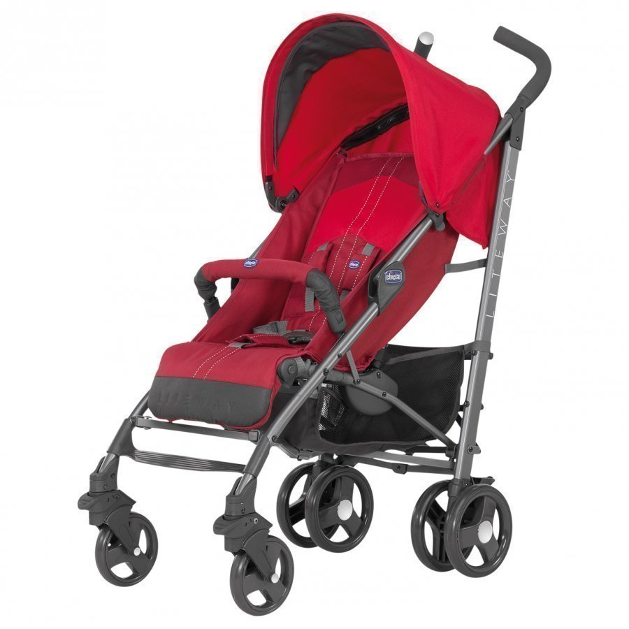 Chicco Liteway Stroller With Bumper Bar Red Sateenvarjorattaat
