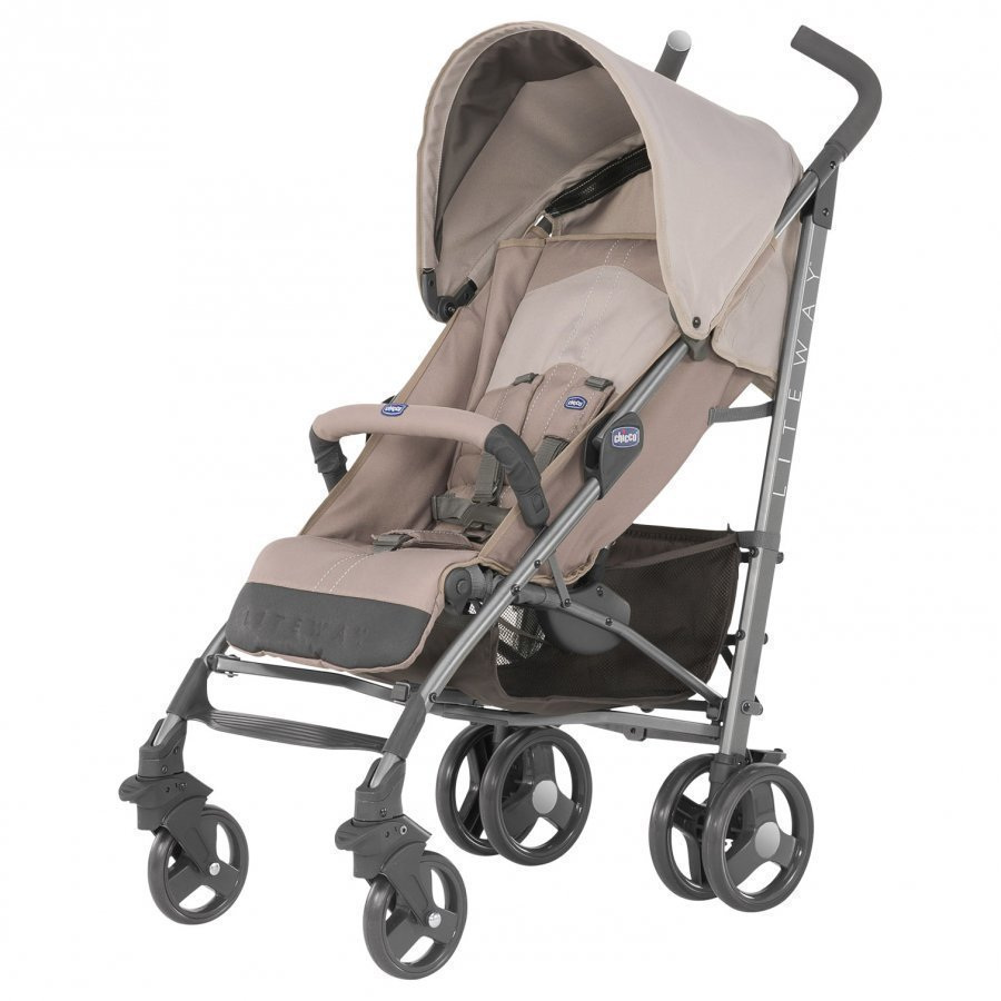 Chicco Liteway Stroller With Bumper Bar Sand Sateenvarjorattaat