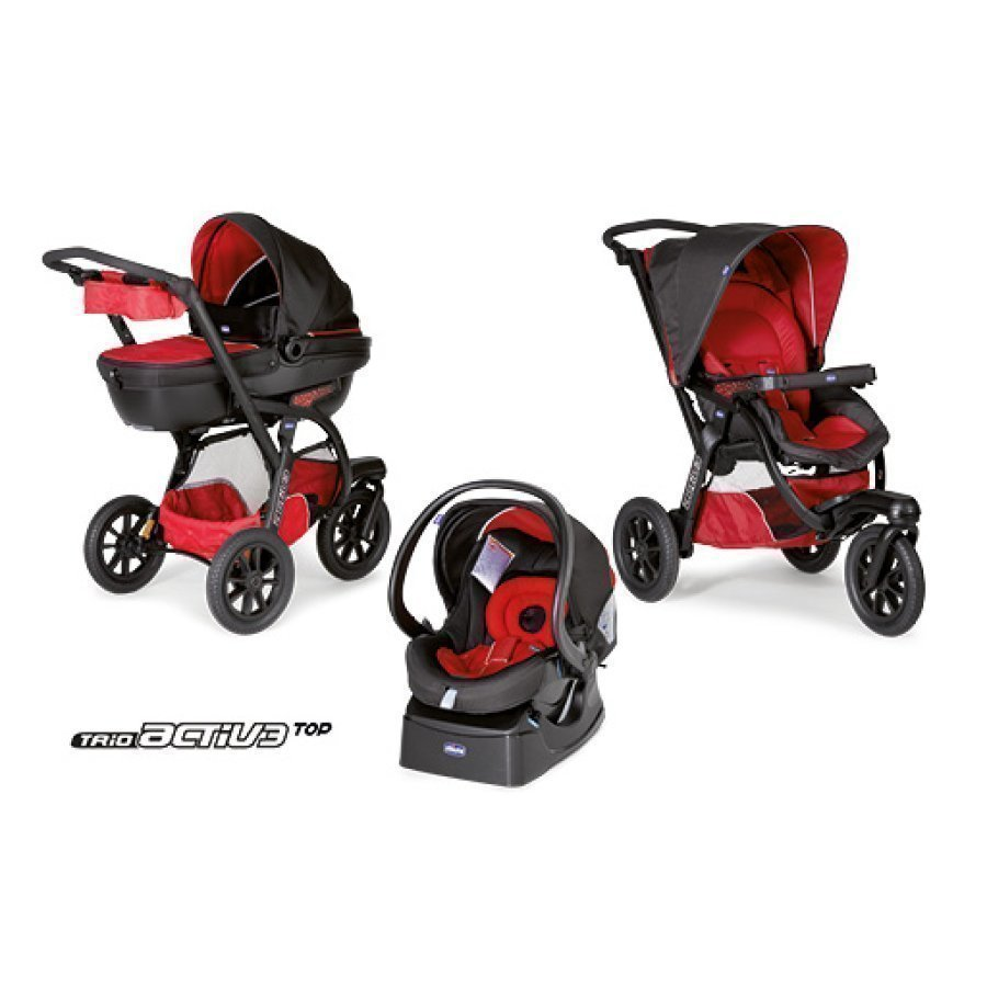 Chicco Trio Activ3 + Car Kit / Race Rattaat