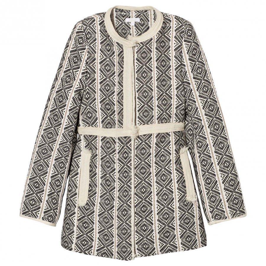 Chloé Black/White Jacquard Coat Talvitakki