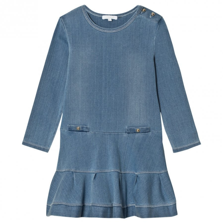 Chloé Blue Chambray Dress Mekko