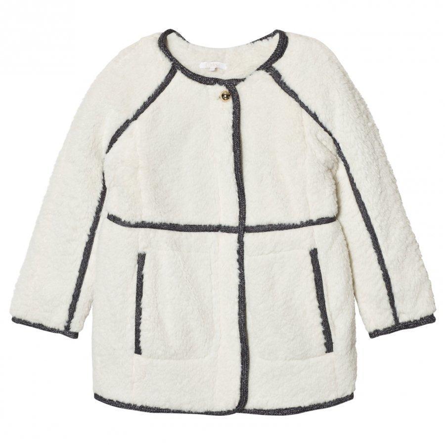 Chloé Faux Fur Plush Coat Off White F Turkis