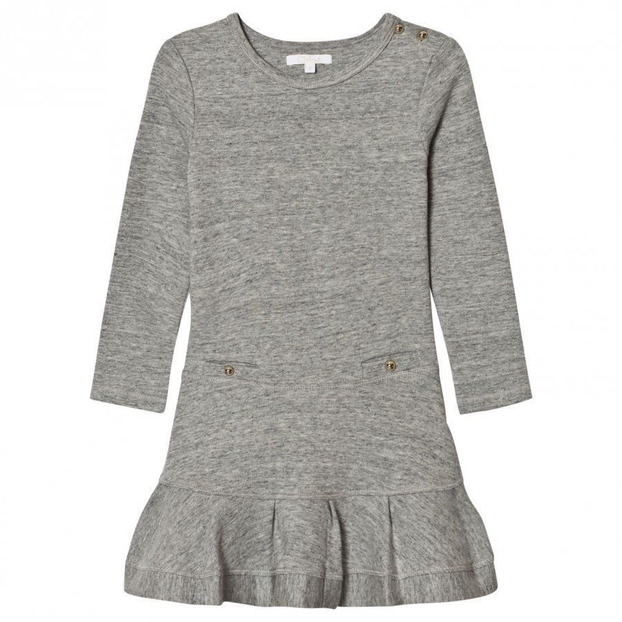 Chloé Grey Jersey Long Sleeve Dress Mekko