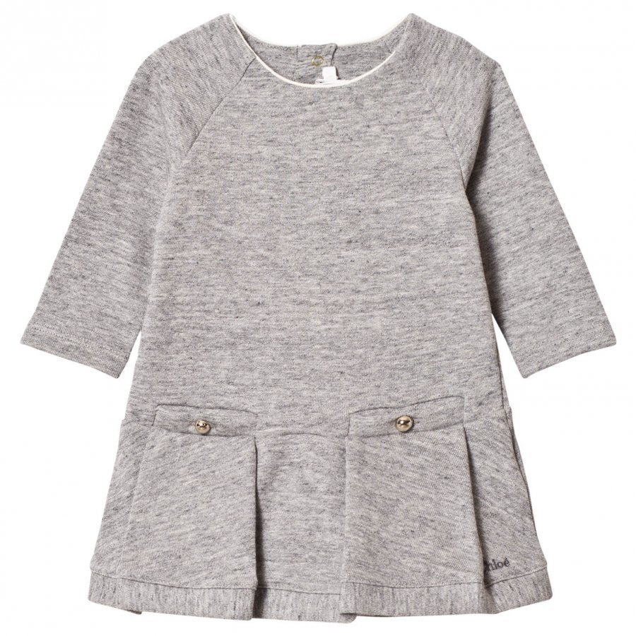 Chloé Grey Marl Sweater Dress Mekko