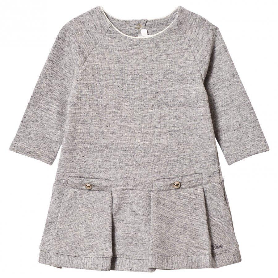 Chloé Grey Marl Sweater Dress Mekko