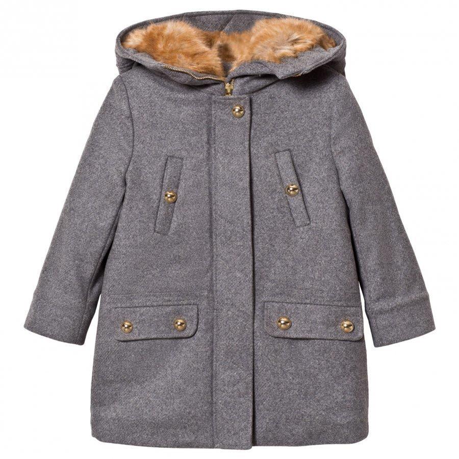 Chloé Grey Wool Coat Talvitakki