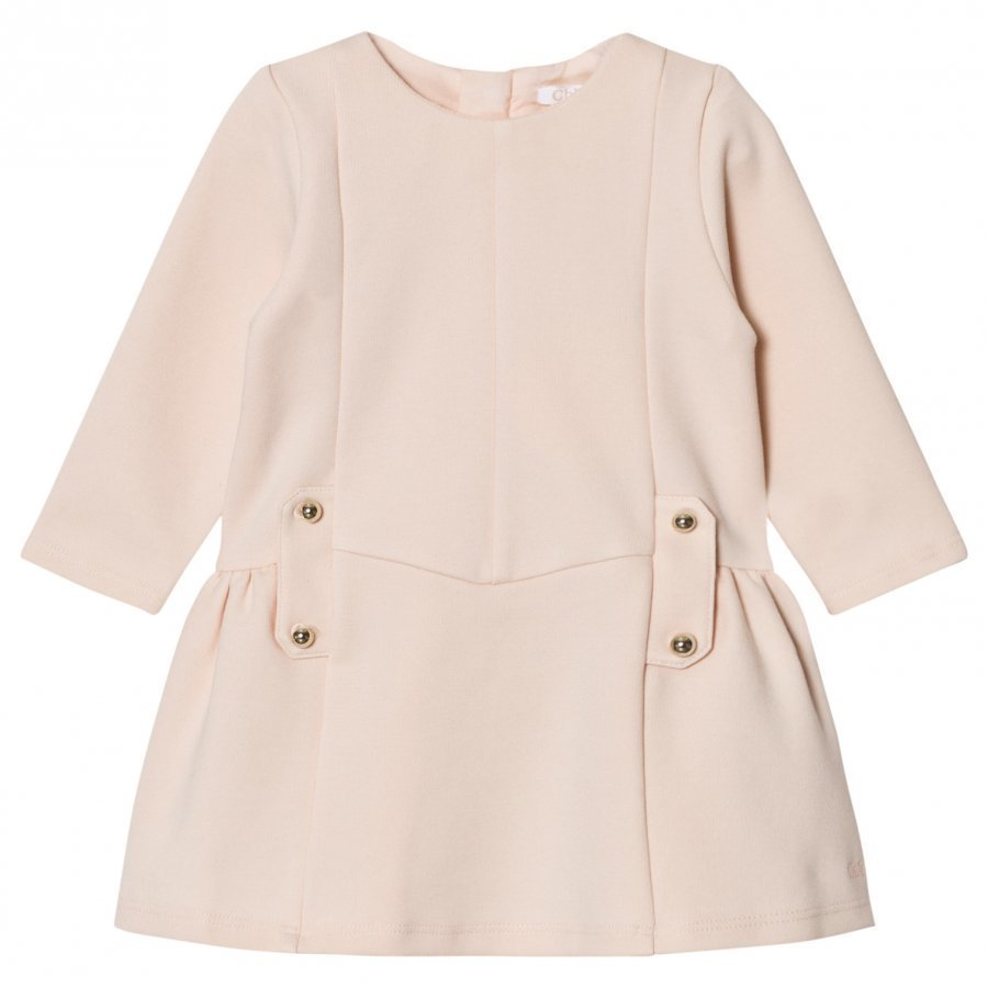 Chloé Milano Dress With Branded Hardware Pale Pink Juhlamekko