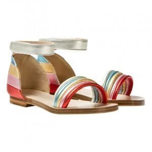 Chloé Multi Rainbow Leather Sandals Remmisandaalit