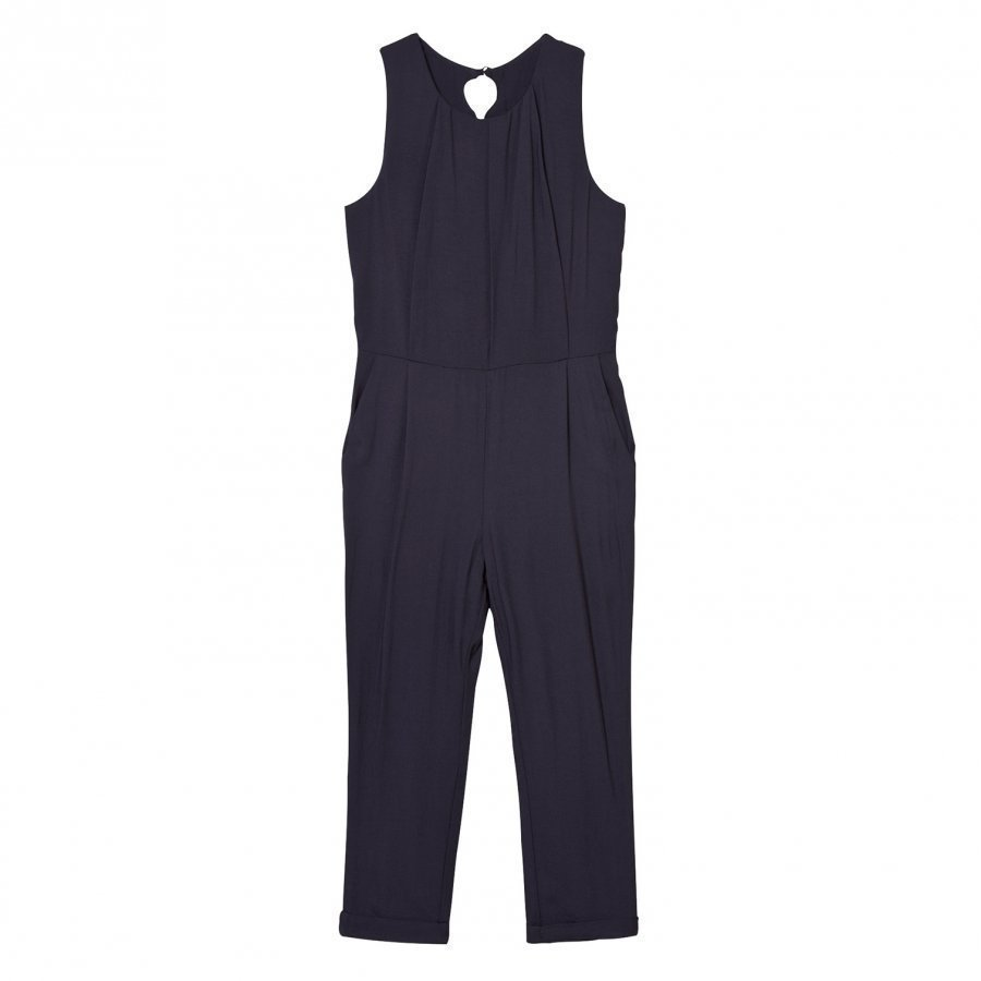 Chloé Navy Lace Back Jumpsuit Potkupuku