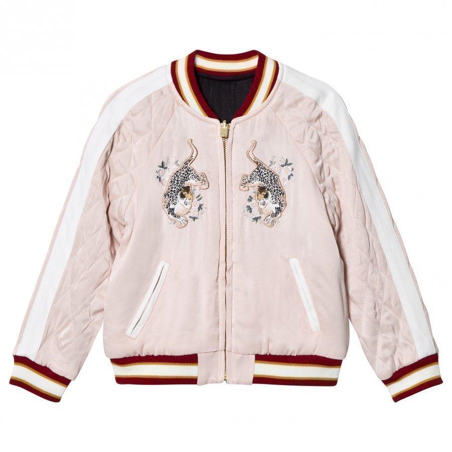 Chloé Pale Pink Satin Bomber Jacket Bomber Takki