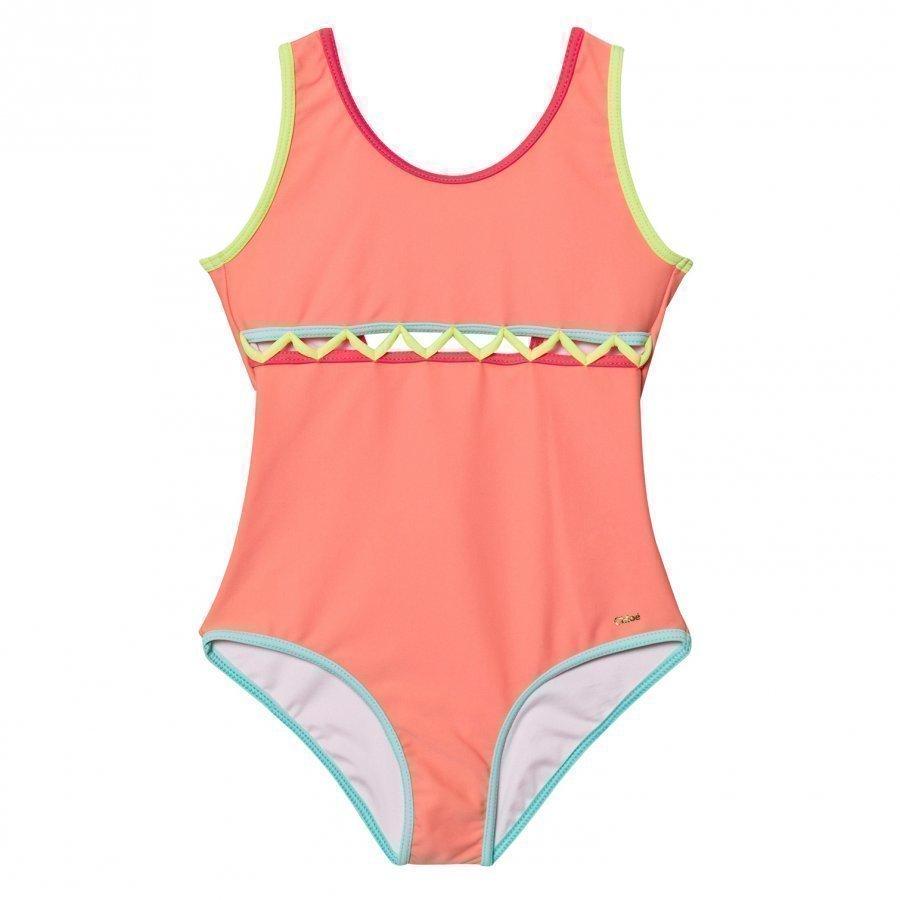 Chloé Pink Cut Out Front Swimsuit Uimapuku