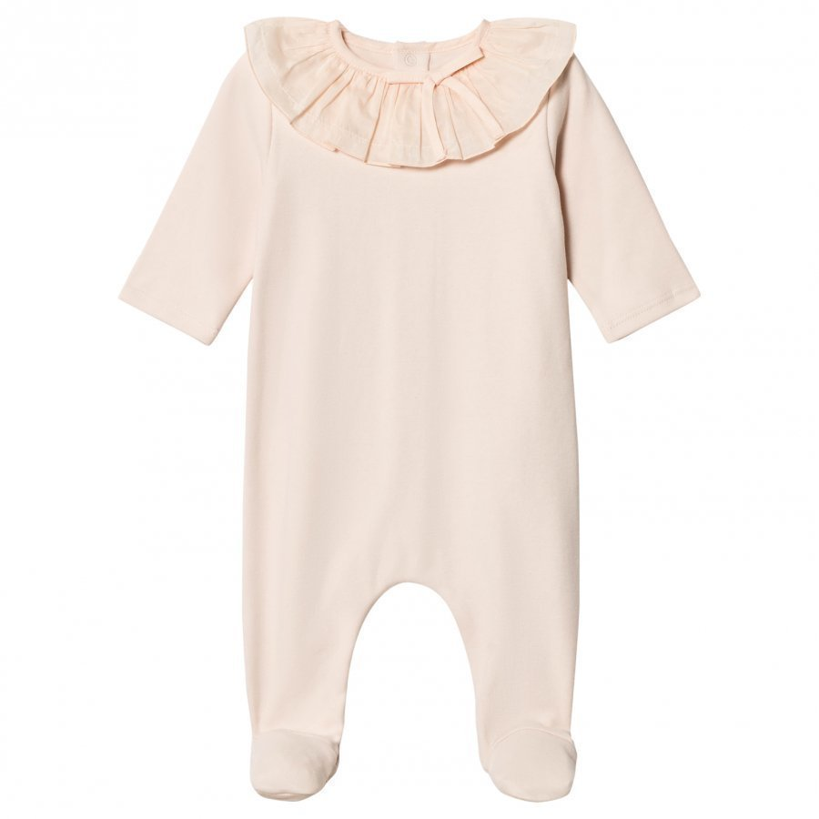 Chloé Pink Footed Baby Body Ruffle Collar Body