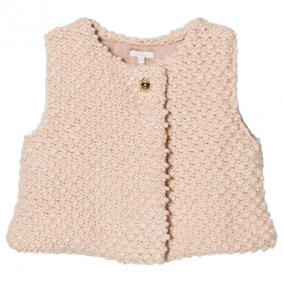 Chloé Pink Textured Knitted Vest Toppaliivi
