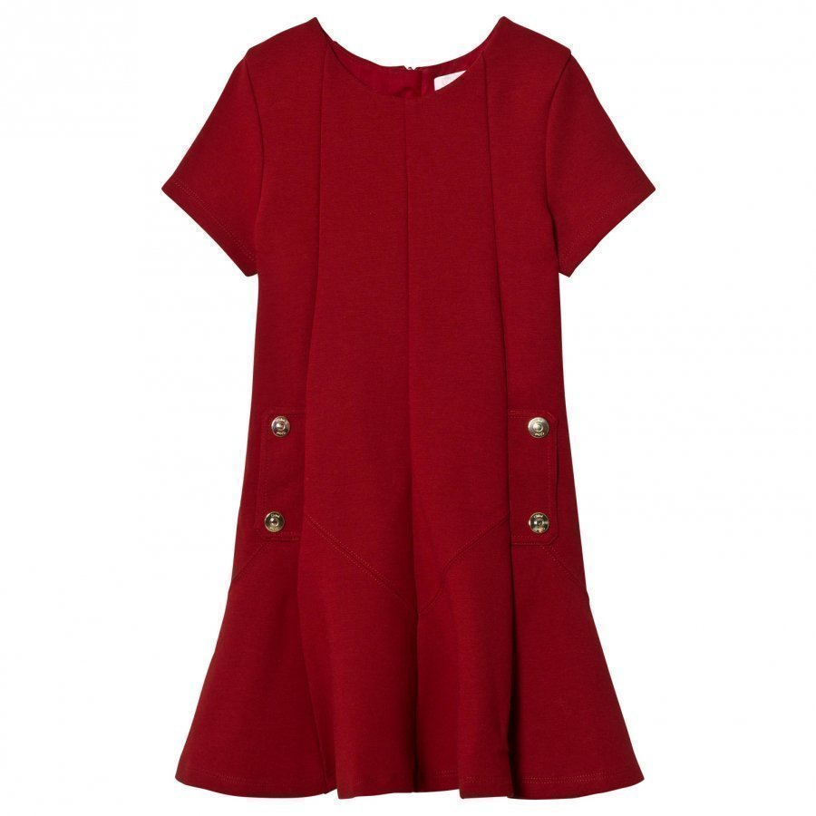 Chloé Red Milano Dress Branded Details Juhlamekko
