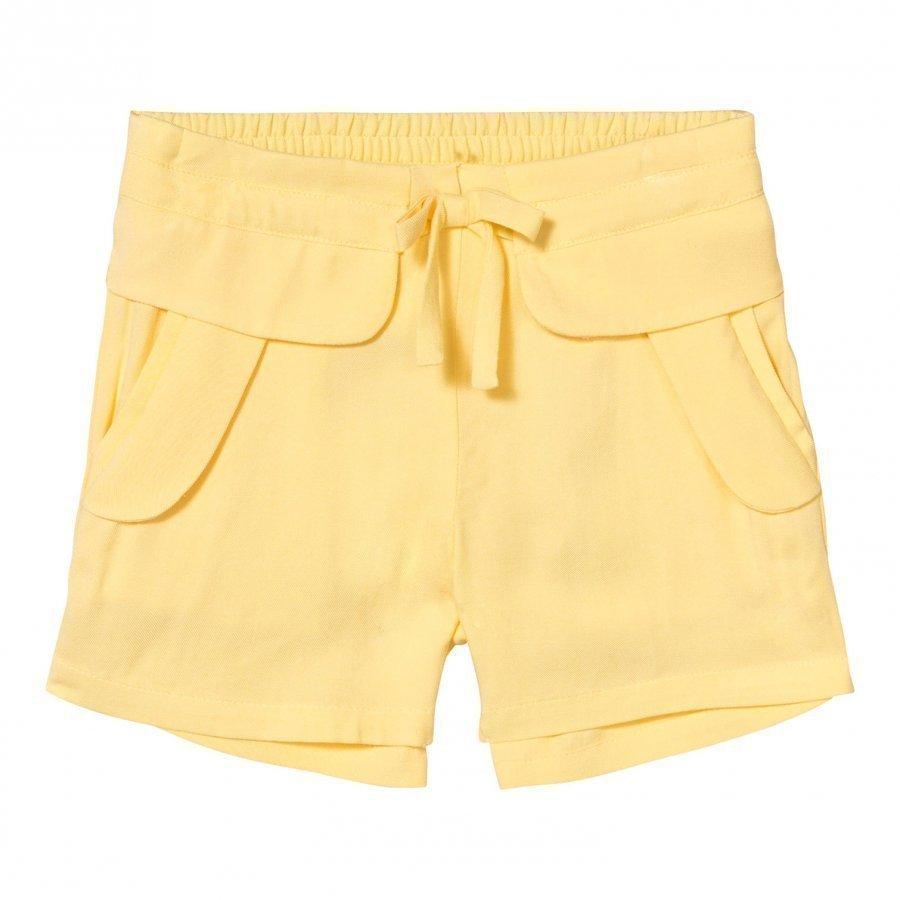 Chloé Yellow Woven Shorts Farkkushortsit