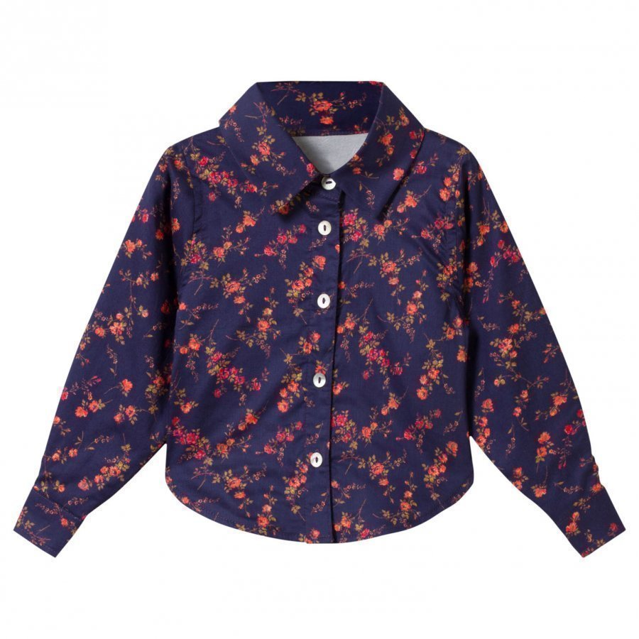 Christina Rohde Liberty Printed Blouse Navy Pusero