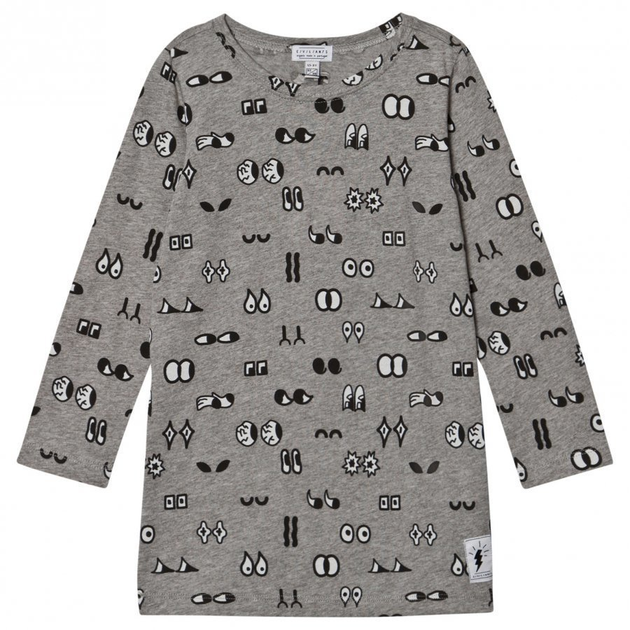 Civiliants Allover Print Dress Grey Mekko