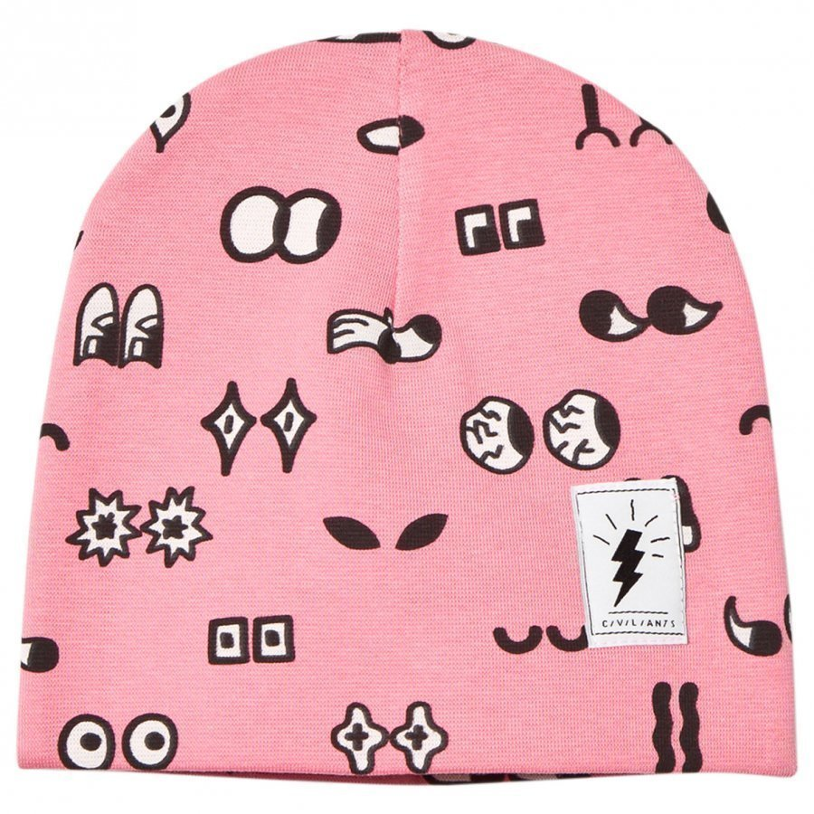 Civiliants Allover Print Jersey Beanie Pink Pipo