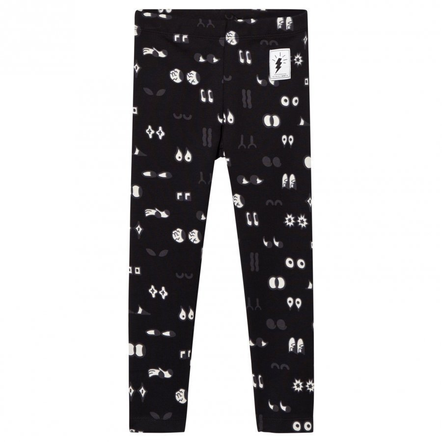 Civiliants Allover Print Leggings Black Legginsit