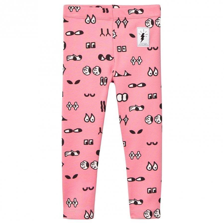 Civiliants Allover Print Leggings Pink Legginsit