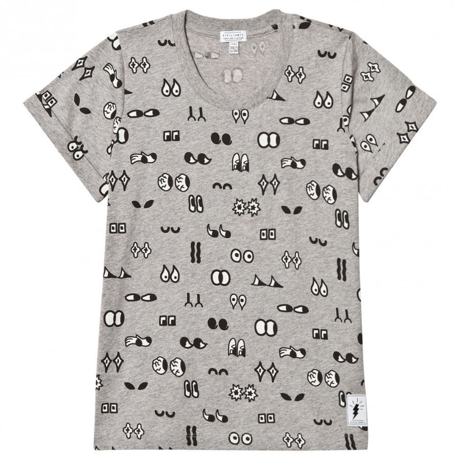 Civiliants Allover Print Tee Grey T-Paita