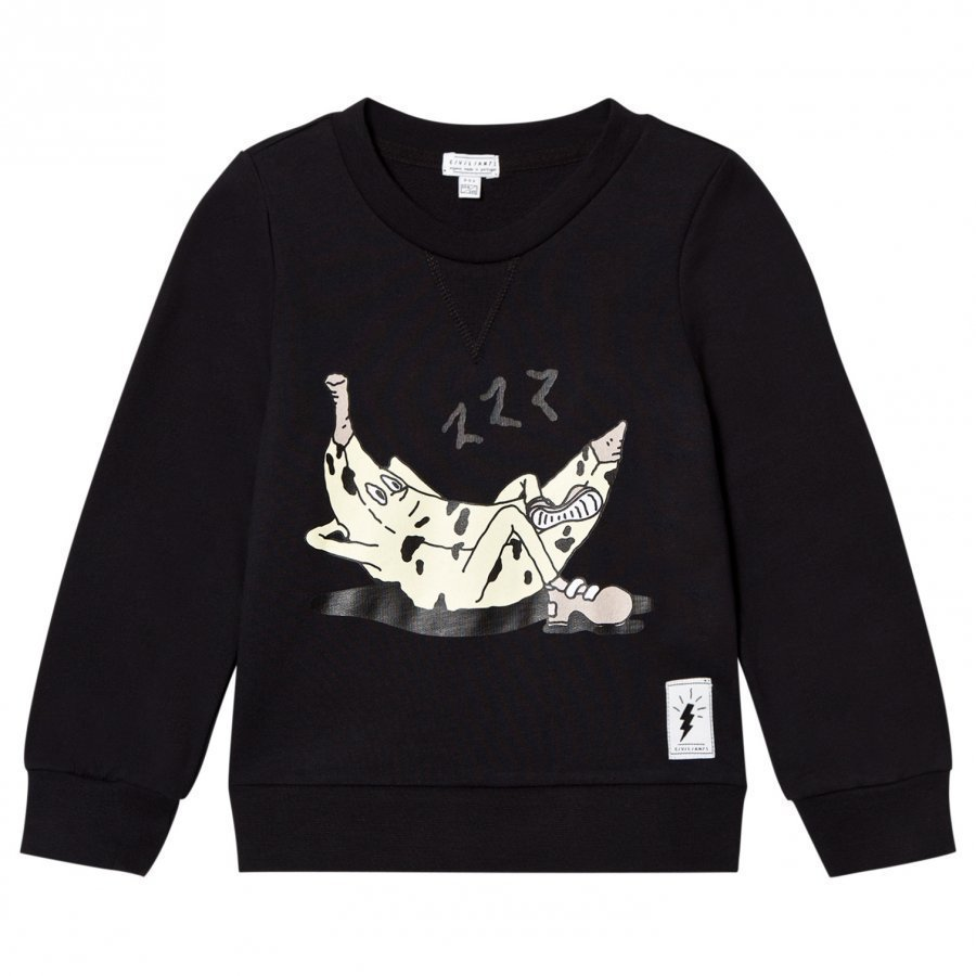 Civiliants Banana Print Sweater Black Oloasun Paita