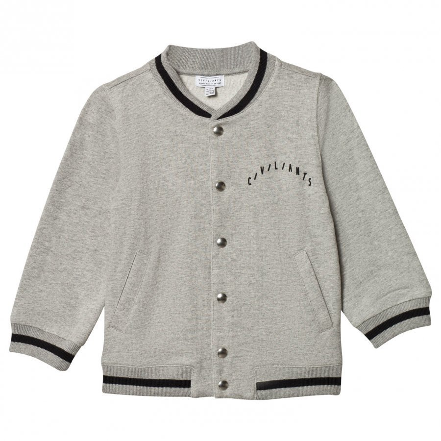 Civiliants Baseball Jacket Grey Melange College Takki