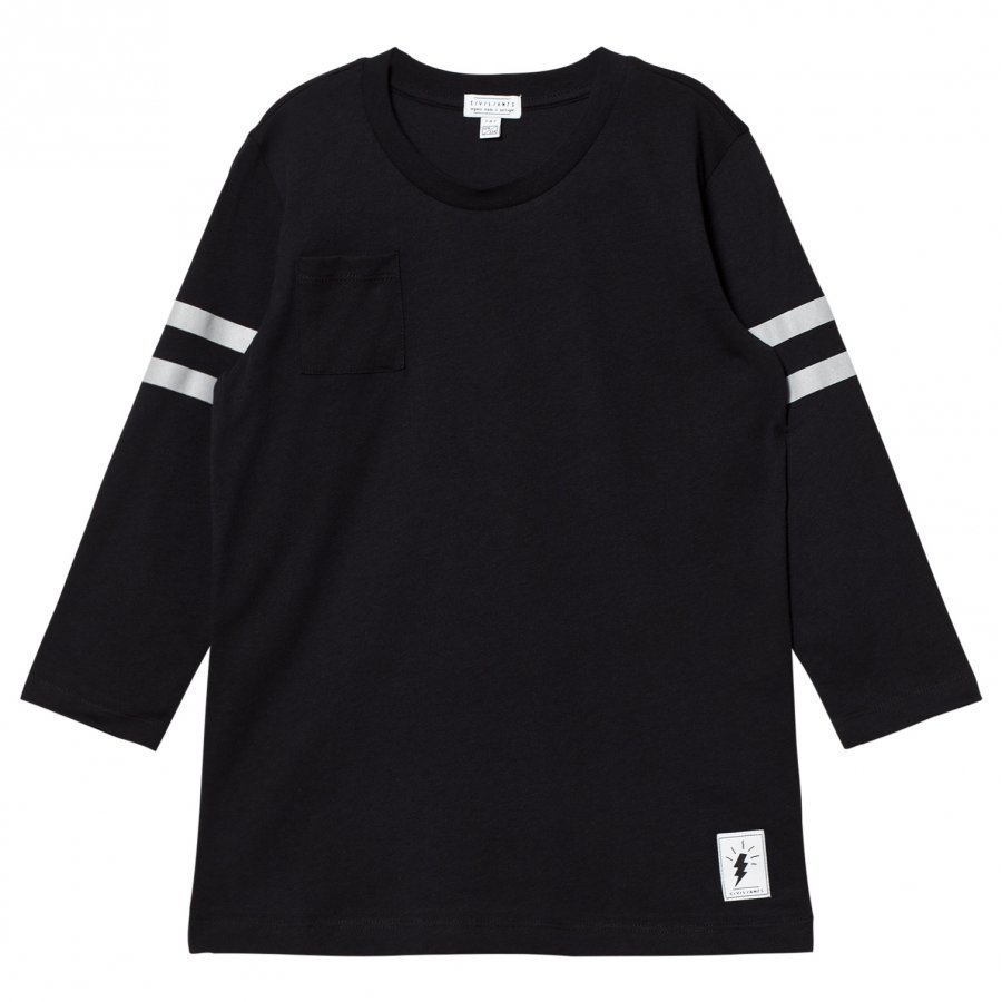 Civiliants Baseball T-Shirt Black T-Paita