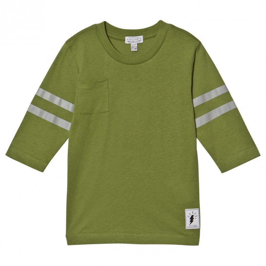 Civiliants Baseball T-Shirt Green T-Paita