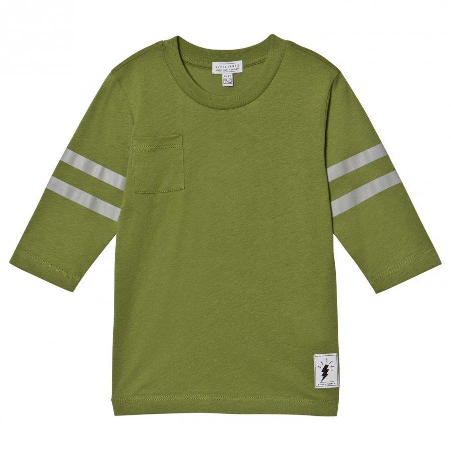 Civiliants Baseball T-Shirt Green T-Paita
