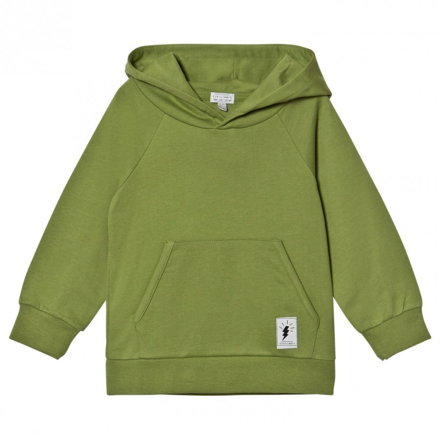 Civiliants Branded Pullover Hoodie Green Huppari