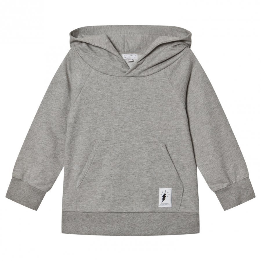 Civiliants Branded Pullover Hoodie Grey Huppari