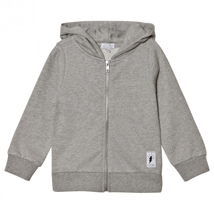 Civiliants Flash Print Zip Hoodie Grey Huppari
