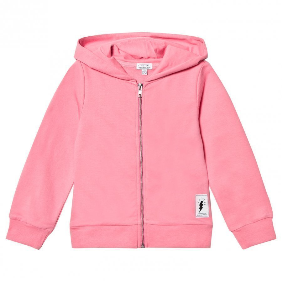 Civiliants Flash Print Zip Hoodie Pink Huppari