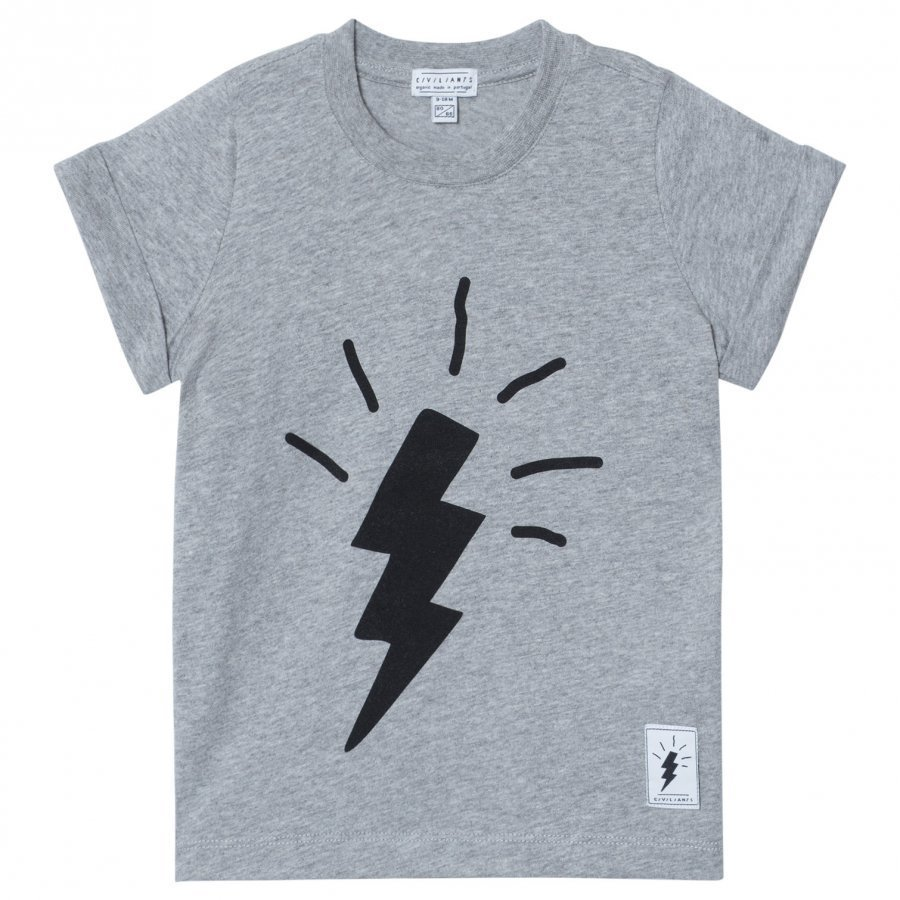 Civiliants Flash Tee Grey Melange T-Paita